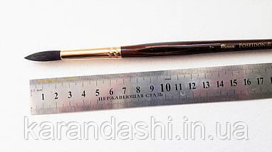 Кисть Pinax Poseidon 801 БЕЛКА микс № 7 круглая длинная ручка, фото 3