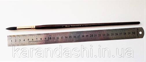 Кисть Pinax Poseidon 801 БЕЛКА микс № 7 круглая длинная ручка, фото 2