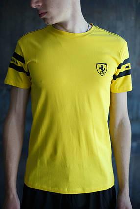 Мужская футболка Puma Ferrari желтая, фото 2