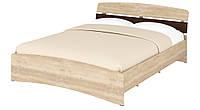 Кровать двуспальная Милана-160 с изножьем ДСП