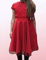 Нарядное детской платье украшенное фатином (2205/22)