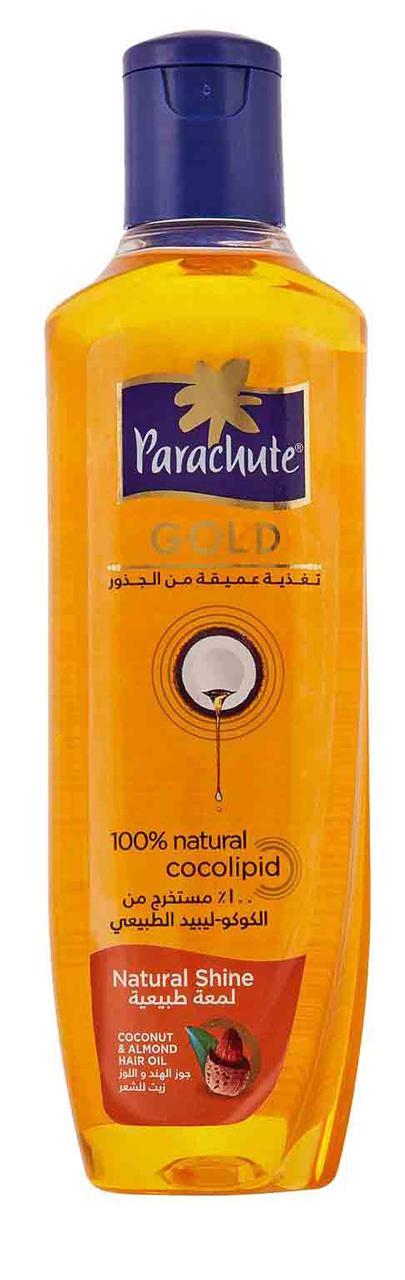 Parachute Gold c экстрактом Миндаля. Кокосовое масло для блеска волос, 200 мл
