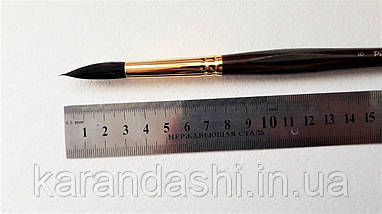 Кисть Pinax Poseidon 801 БЕЛКА микс № 8 круглая длинная ручка, фото 2