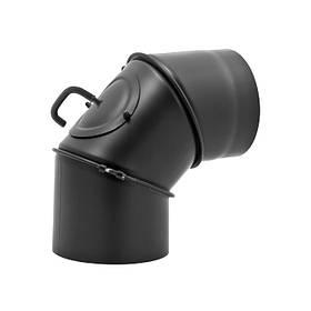 Жаропрочное регулируемое колено с Шибером и ревизией 120 мм