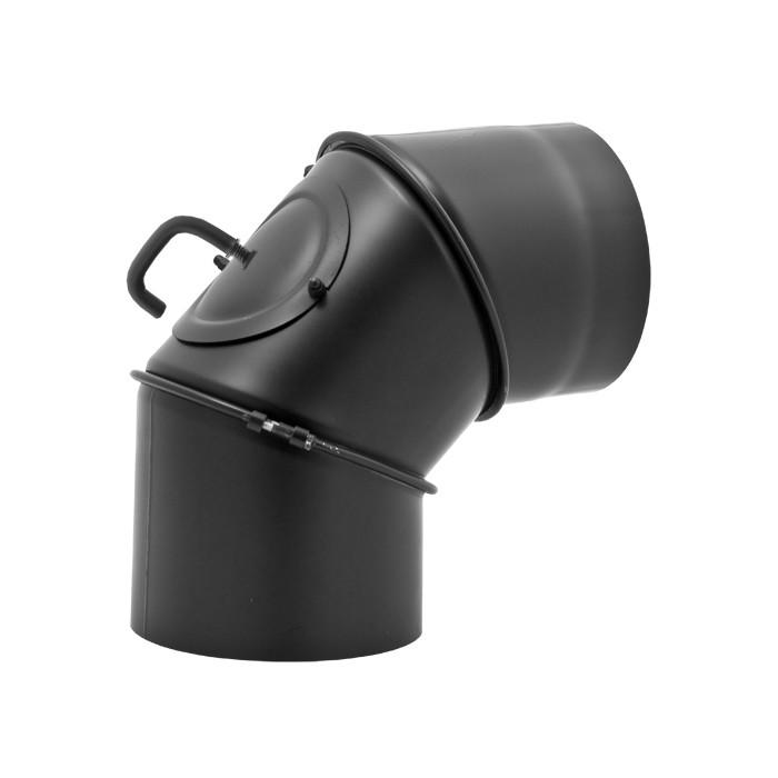 Жаропрочное регулируемое колено с Шибером и ревизией 150 мм