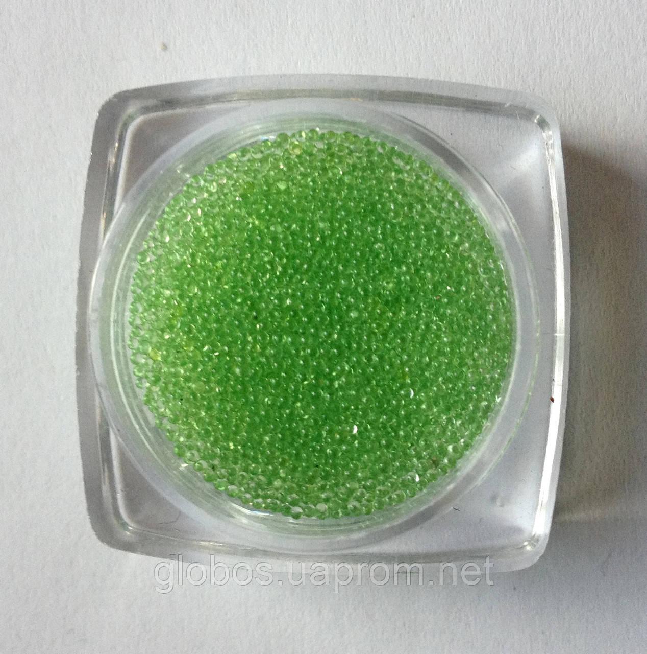 Бисер (бульонки) для декорирования ногтей и ресниц салатовый  IL 02-07