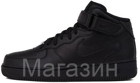 e4a399759354 Женские кроссовки Nike Air Force High Black Найк Аир Форс высокие черные,  фото 2