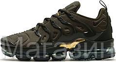 Женские кроссовки Nike Air VaporMax Plus Khaki Найк Вапормакс хаки