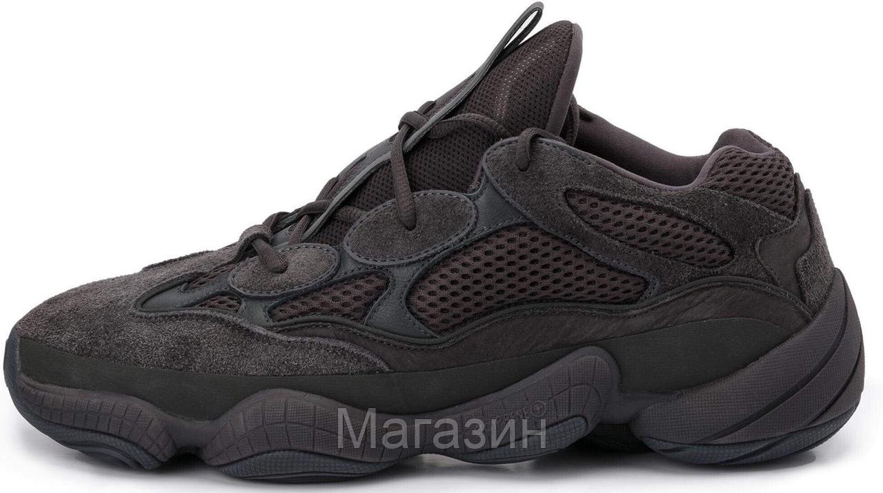 """Мужские кроссовки adidas Yeezy 500 """"Black"""" F36640 (Адидас Изи 500) черные"""