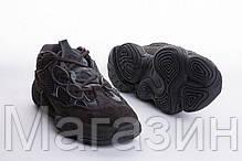 """Мужские кроссовки adidas Yeezy 500 """"Black"""" F36640 (Адидас Изи 500) черные, фото 2"""