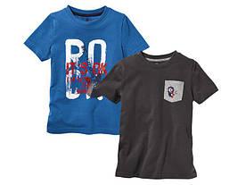 Комплект футболок синяя Rock и серая с карманом Lupilu (Германия) р.110/116