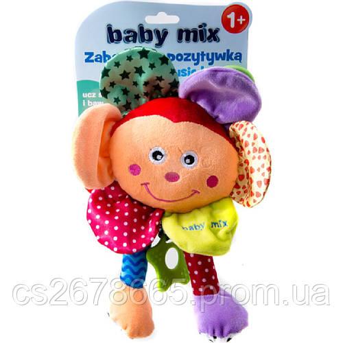 Подвеска музыкальная пищалка с прорезивателем Квітка 2787 Baby Mix