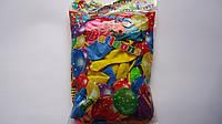 """Воздушные шарики круглые разноцветные """"Baloons"""" ассорти, 100 шт.стандарт,латекс.Воздушные шарики латексные. Ша"""