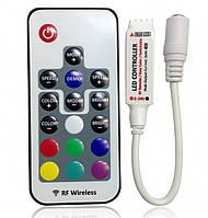 Контроллер RGB (6А) с пультом (радио, 17кнопок)