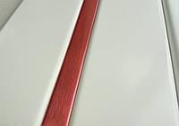 Реечный потолок белый вставка красная, комплект
