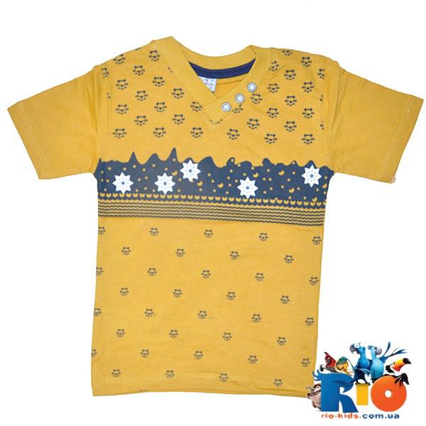 Детская трикотажная футболка, для мальчиков 1-4 года (4 ед в уп)