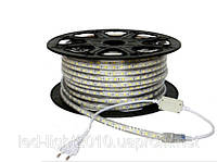 Светодиодная лента 220В 5050(60LED/м) IP67 теплый белый