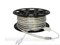 Светодиодная лента 220В 5050(60LED/м) IP67 желтый