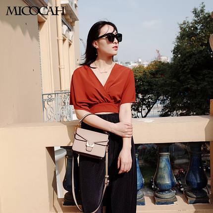 Сумка женская Micocah Bras коричневая eps-6113, фото 2