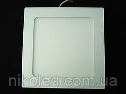 Светильник точечный Slim LED 12W квадрат  Теплый белый
