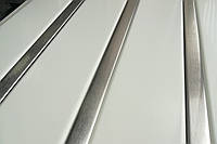 Реечный алюминиевый потолок белый вставка под нержавейку, комплект