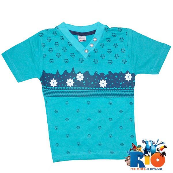 Детская трикотажная футболка, для мальчиков 5-8 лет (4 ед в уп)