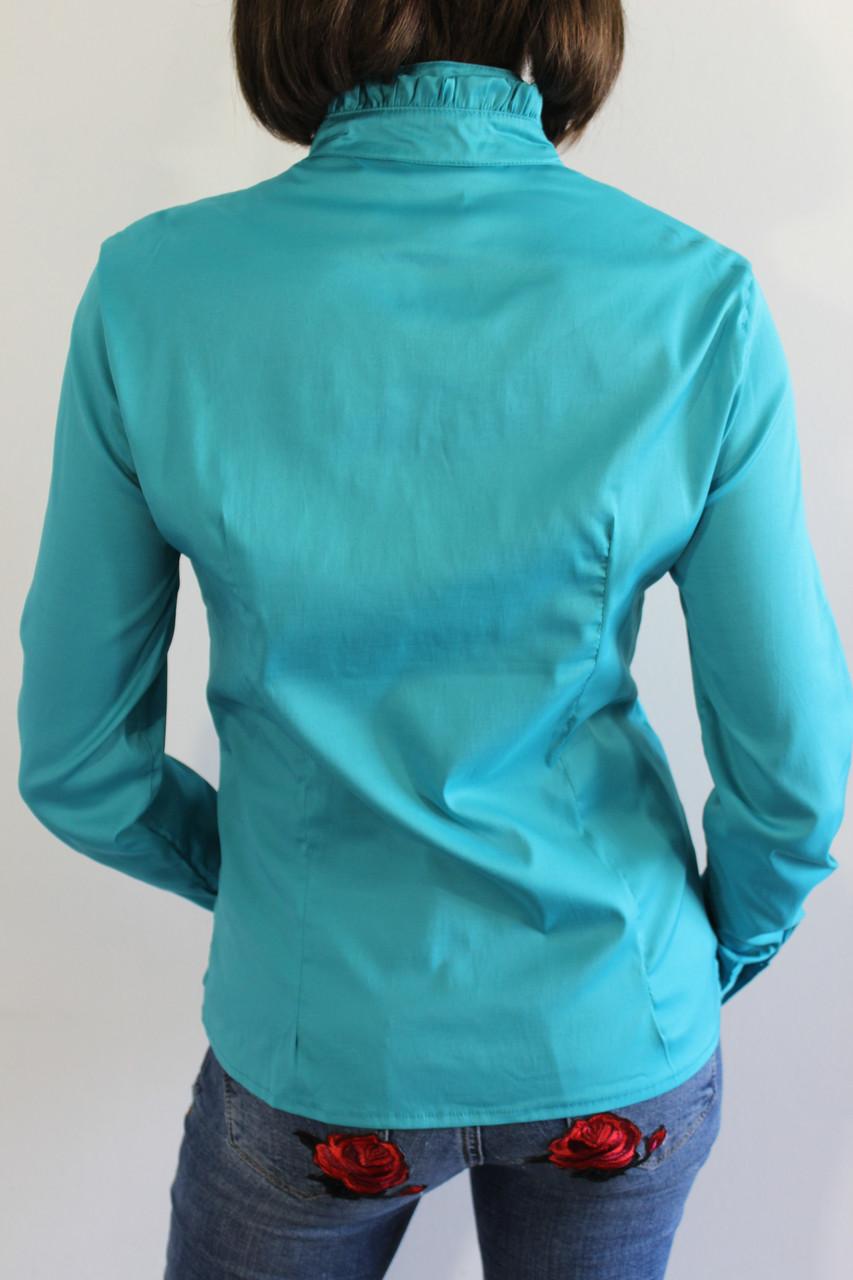115ed228ca8 Рубашка женская бирюзовая 20517 - купить по низкой цене. Код 710750918