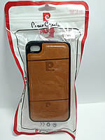 Чохол Pierre Cardin для телефону iPhone 4 / 4s  коричневий
