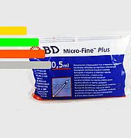 Шприц Инсулиновый U-100 BD Micro-fine Plus 0,5 ml - Микрофайн