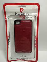 Чохол Pierre Cardin для телефону iPhone 4 / 4s червоний