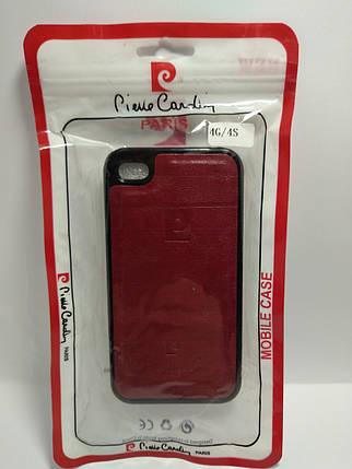 Чехол Pierre Cardin для телефона iPhone 4 / 4s красный, фото 2