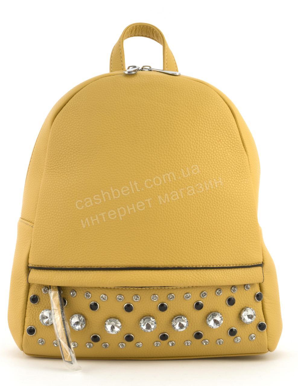 Стильный и качественный оригинальный рюкзак со стразами Suliya art. GJ64 желтый