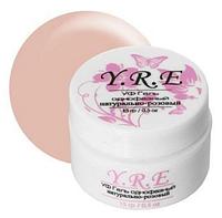Гель для наращивания однофазный натурально-розовый для салонов красоты gel-j-05 yre
