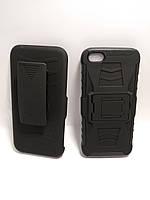 Силіконовий протиударний чохол з кріпленням для ременя Iphone 5 / 5s чорний