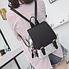 Женский рюкзак в пайетках с брелком, фото 2