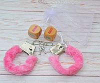 Набор наручники и кубики Камасутра в подарочном мешочке, фото 1