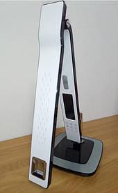 Светодиодная настольная лампа  AZRA 10W белая, сенсор, диммер, часы, каледарь, будильник Код.59290
