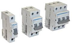 Автоматические выключатели Hager, 6 кА, характеристики расцепления В и С