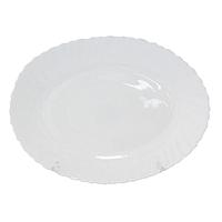Блюдо овальное 30 см белое D2