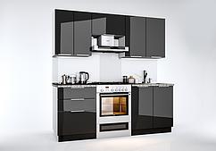 Кухня Orlando Глянец черный  2 м.