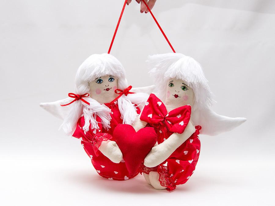 Куклы  Vikamade Валентинки пара Ангелы любви.