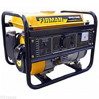 Бензогенератор FIRMAN SPG1500 - потужність 1.3 кВт, бак 5,5 л, витр. палива 550 гр/кВтг, 4-тактний двигун, ваг