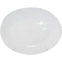 Блюдо овальное 34 см белое D2