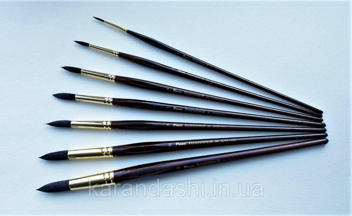 Кисть Pinax Poseidon 801 БЕЛКА микс № 5 круглая длинная ручка