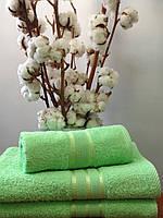 Махровое полотенце 70х140, 100% хлопок 380 гр/м2, Пакистан, Нежно-салатовый без борда