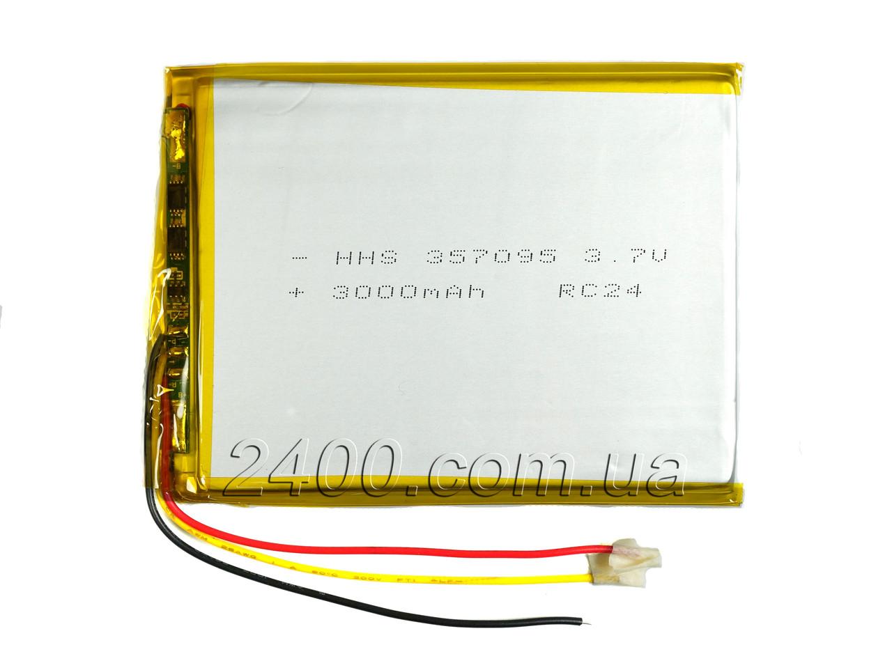Аккумулятор 3000мАч 357095 мм с выходом на 3 контакта (3 pin) Bravis NP71, NP72, NP725, NP747, NB85, NB701