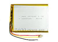 Аккумулятор 3000мАч 357095 мм с выходом на 3 контакта (3 pin) Bravis NP71, NP72, NP725, NP747, NB85, NB701, фото 1