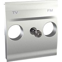Панель для ТВ-FM розетки Алюминий Unica Schneider, MGU9.440.30