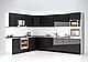 Модульная кухня Orlando Глянец черный, фото 2