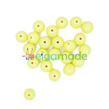 Бусины пластиковые круглые 12 мм, 20 г, ЖЕЛТЫЕ